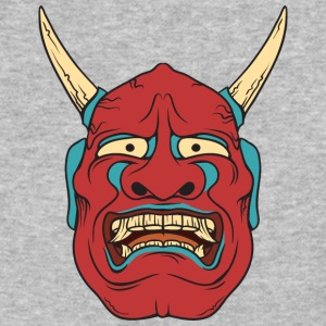 red_demon_with_horns - Baseball T-Shirt