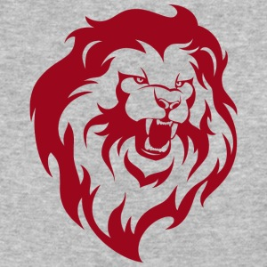 wild_lion_head_red - Baseball T-Shirt