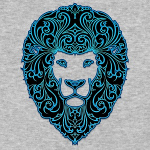 lion_with_ornament_hairs_2_black_neon - Baseball T-Shirt