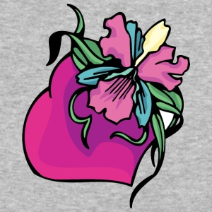 purple_heart_and_flowers - Baseball T-Shirt