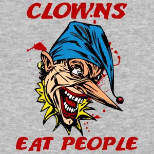 EVIL_CLOWN_46_eating - Baseball T-Shirt