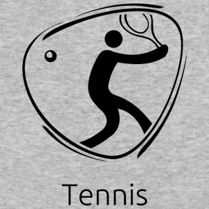 Tennis_black - Baseball T-Shirt
