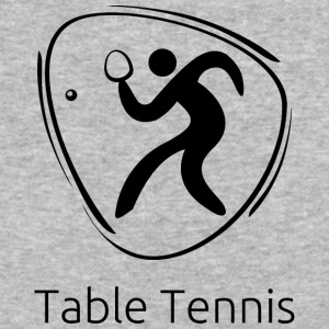 Table_tennis_black - Baseball T-Shirt