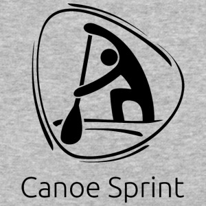 Canoe_sprint_black - Baseball T-Shirt