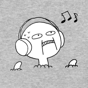 Uncomfortable Headphone Guy - Baseball T-Shirt