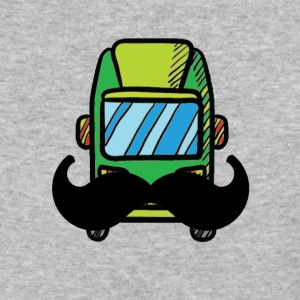 Hip Camper or Van with a Mustache - Baseball T-Shirt