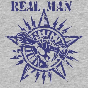 REAL MAN - Baseball T-Shirt