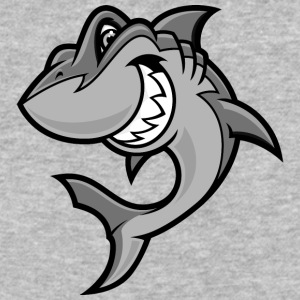 funny_cartoon_shark - Baseball T-Shirt