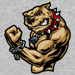 muscular_brown_dog_with_red_collar - Baseball T-Shirt