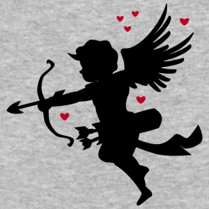 angel-draws-shape-valentines day-amour-heart-love - Baseball T-Shirt