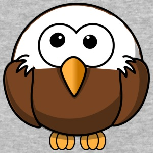 Funny bald eagle comic style - Baseball T-Shirt