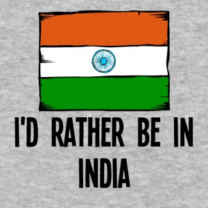 I'd Rather Be In India - Baseball T-Shirt