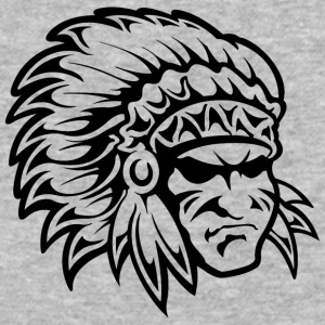 colored_american_indian_chief_black - Baseball T-Shirt