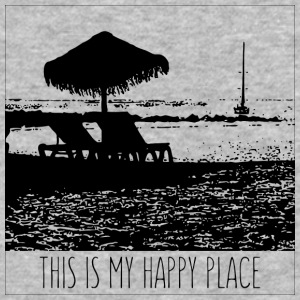 The beach is my happy place - Baseball T-Shirt