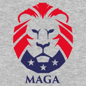 MAGA Trump Lion logo - Baseball T-Shirt