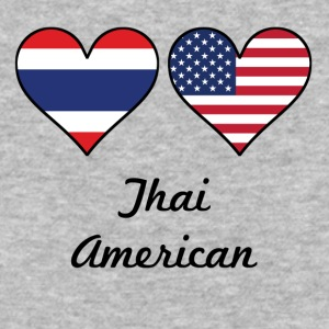 Thai American Flag Hearts - Baseball T-Shirt