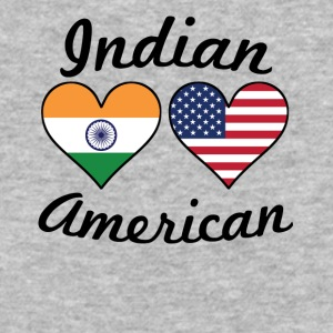 Indian American Flag Hearts - Baseball T-Shirt