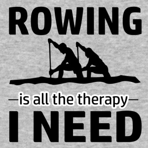 Rowing is my therapy - Baseball T-Shirt