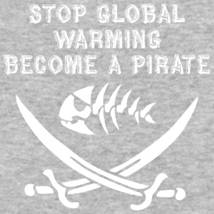stop global warming and become a pirate white - Baseball T-Shirt