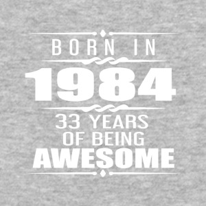 Born in 1984 33 Years of Being Awesome - Baseball T-Shirt