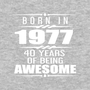 Born in 1977 40 Years of Being Awesome - Baseball T-Shirt