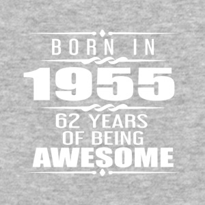 Born in 1955 62 Years of Being Awesome - Baseball T-Shirt
