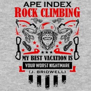 ApeIndex RockClimbing Black Red - Baseball T-Shirt