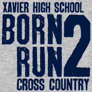 Xavier High School Born 2 Run Cross Country - Baseball T-Shirt