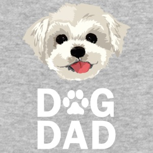 Dog Dad Maltese Funny Fathers Day Gift Paw - Baseball T-Shirt
