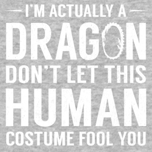 I'm Actually A Dragon Funny Halloween Costume - Baseball T-Shirt