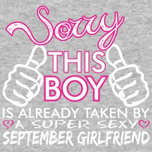 Sorry This Boys Already Taken September Boyfriend - Baseball T-Shirt