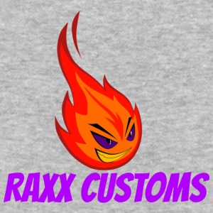 Fire RAXX CUSTOMS logo orange and purple - Baseball T-Shirt