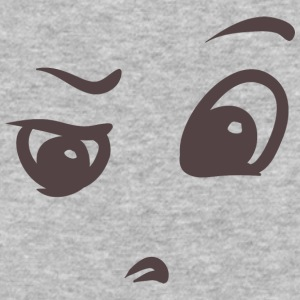 Confused - Face emotions on T-shirt - Baseball T-Shirt