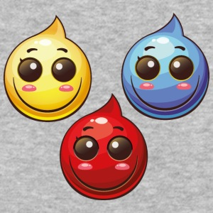 Paint Drops blue red yellow smile cool art - Baseball T-Shirt