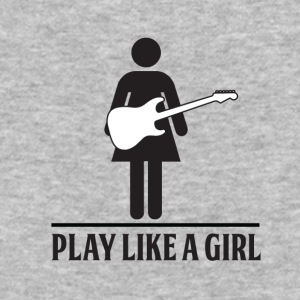 Play like a girl - Electric Guitar - Baseball T-Shirt