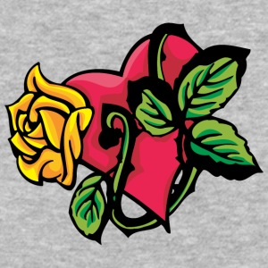 red_heart_and_yellow_rose - Baseball T-Shirt