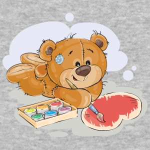 paint brush artist teddy bear - Baseball T-Shirt