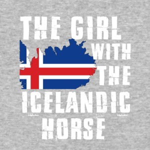 The girl with the iclandic horse - Baseball T-Shirt