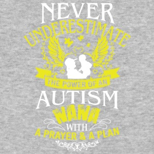 Never Underestimate Power Of An Autism Nana Shirt - Baseball T-Shirt