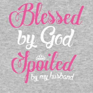 Blessed By God Spoiled By My Husband T Shirt - Baseball T-Shirt