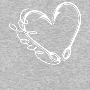 Fishing Hook Heart T Shirt - Baseball T-Shirt