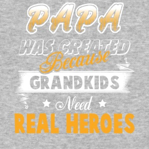 Best Papa Grandkids Need Real Heroes T Shirt - Baseball T-Shirt