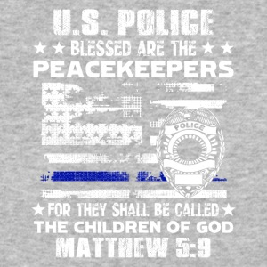 US POLICE BLESSED ARE PEACEKEEPERS TEE SHIRT - Baseball T-Shirt