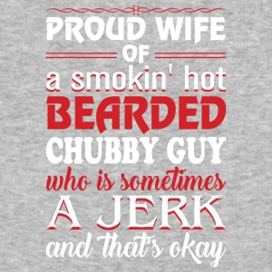 Wife Of A Smoking Hot Bearded Chubby Guy T Shirt - Baseball T-Shirt