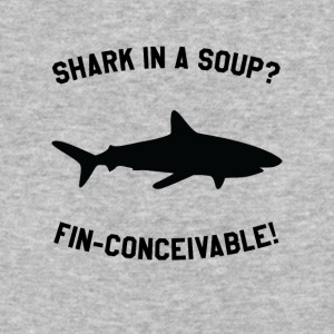 Shark In A Soup? FIN-CONCEIVABLE! - Baseball T-Shirt