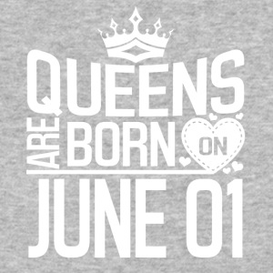 Queens are born on June 01 - Baseball T-Shirt