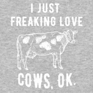 I just freaking love cows - Baseball T-Shirt