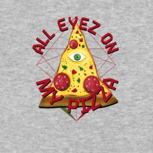 ALL EYEZ ON MY PIZZA Illuminati Italy Fun T-Shirt - Baseball T-Shirt