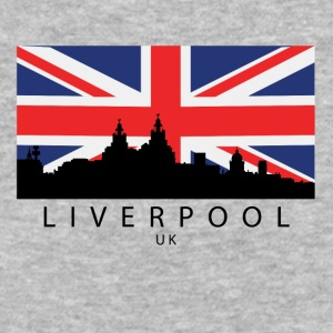 Liverpool England UK Skyline British Flag - Baseball T-Shirt