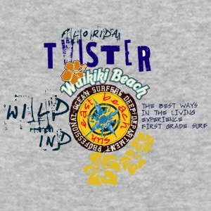 TWISTER waikiki beach - Baseball T-Shirt